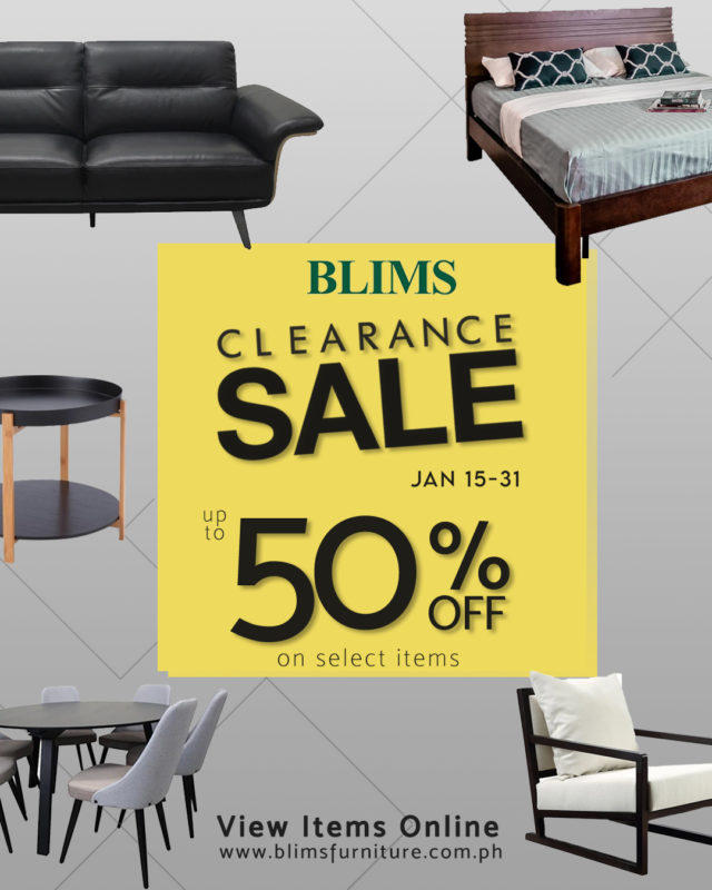 BLIMS Furniture Clearance Sale