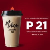 Macao Imperial Tea – P21 Milk Tea Promo