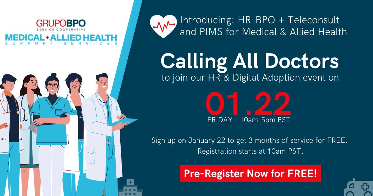 Introducing: HR-BPO + Teleconsult and PIMS for Medical and Allied Health
