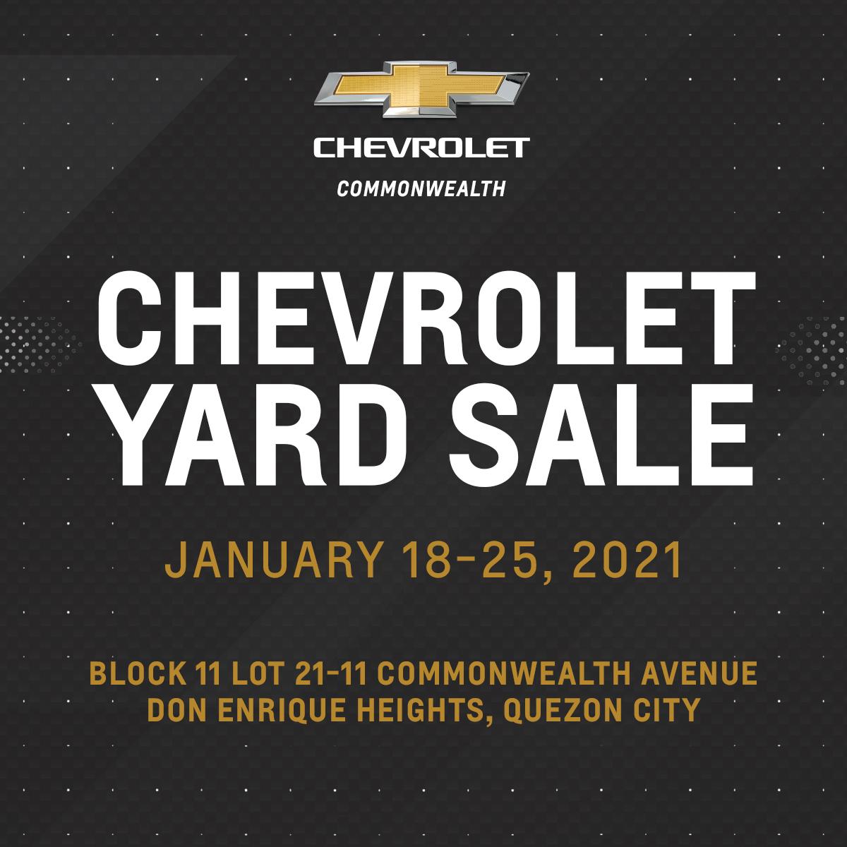 Chevrolet Yard sale