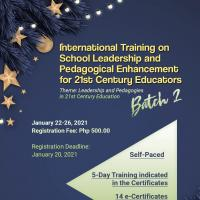 Batch 2- International Training on School Leadership and Pedagogical Enhancement