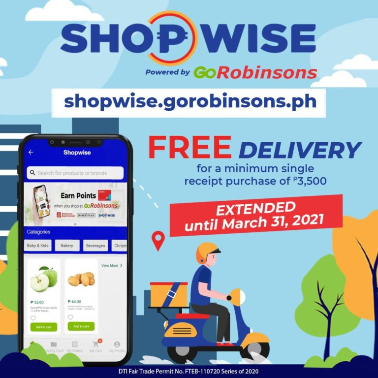 Shopwise FREE DELIVERY Promo