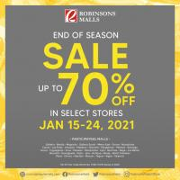 Robinsons Malls upto 70% OFF End of Season Sale