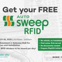 Get your free AutoSweep RFID in Araneta City