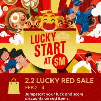 2.2 Lucky Red Sale at SM EAST Ortigas
