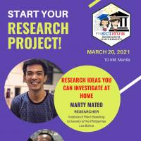 RESEARCH WORKSHOP: Start your Research Project