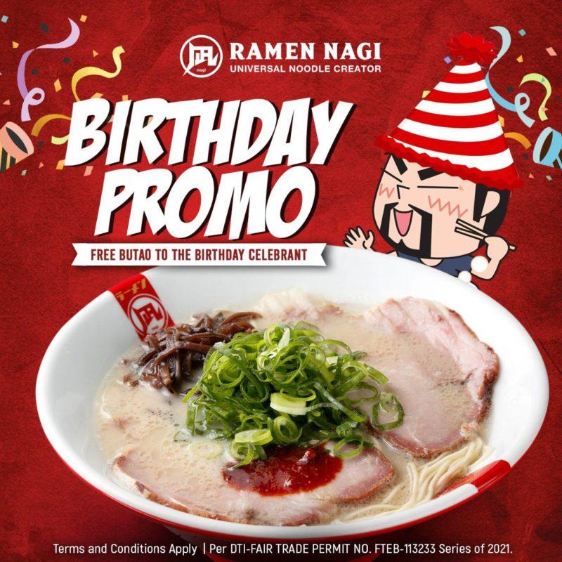 Ramen Nagi – FREE Butao King Birthday Promo