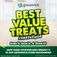 Greenwich – Best Value Treats