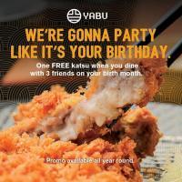 Yabu – FREE Katsu Birthday Month Promo
