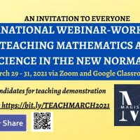 International webinar-workshop on teaching math and science in the new normal