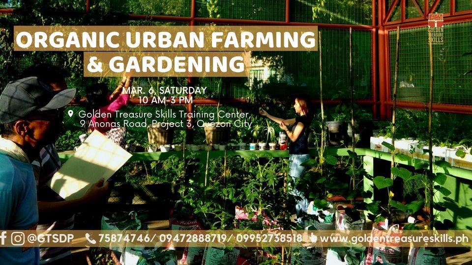 Organic Urban Farming and Gardening Seminar