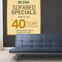 BLIMS up-to 40% OFF Sofabed Specials