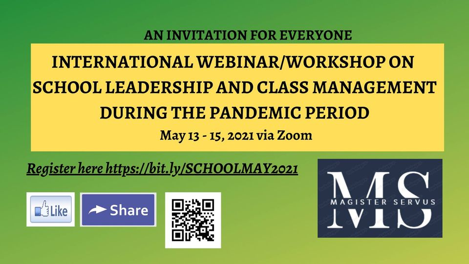 International webinar/workshop for school leadership and class management during the pandemic period