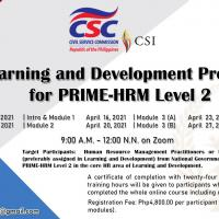 Learning and Development for Prime-HRM Level 2