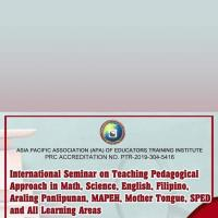 International Seminar on Pedagogical Approaches in all Learning Areas open for Demo-Teacher with Deped