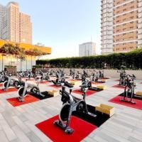 Rev it up! Ride Revolution at Shangri-La Plaza takes its classes outdoors