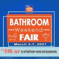 CW Home Depot Bathroom Weekend Fair