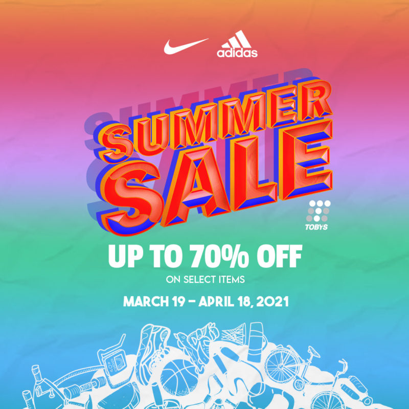 Toby's Sports Nike and Adidas Summer Sale