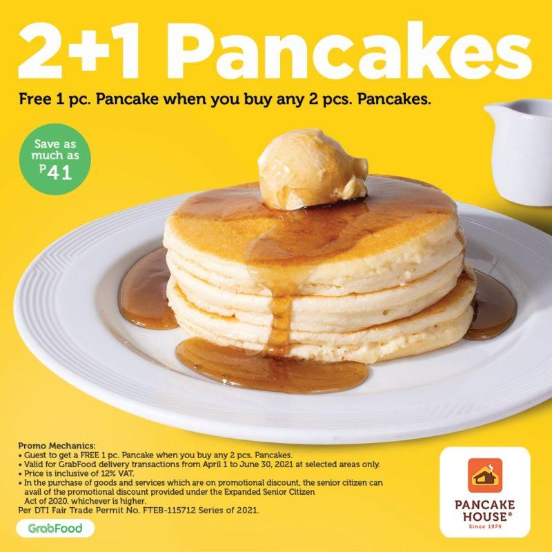 Pancake House 2+1 Pancake GrabFood Promo