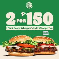 Burger King 2 Whopper Jr. for P150