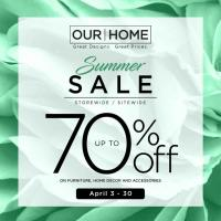 Our Home upto 70% OFF Summer Sale