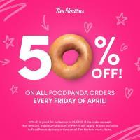 Tim Hortons 50% OFF Every Friday via FoodPanda