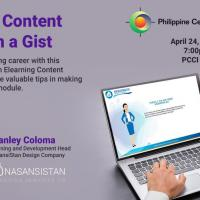 ELearning Content Creation in a Gist