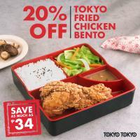 Tokyo Tokyo 20% OFF Fried Chicken Bento Promo