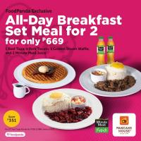 Pancake House All Day Breakfast Meal for 2 Promo