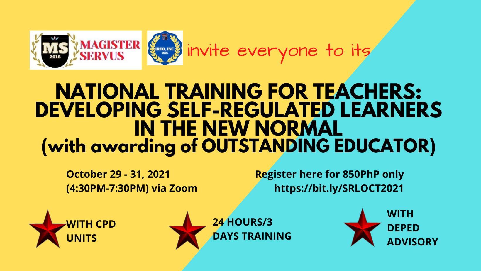 NATIONAL TRAINING FOR TEACHERS