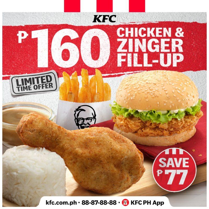 KFC Chicken & Zinger Fill-Up Promo