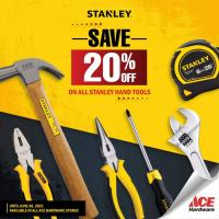 Ace Hardware 20% OFF Stanley Hand Tools