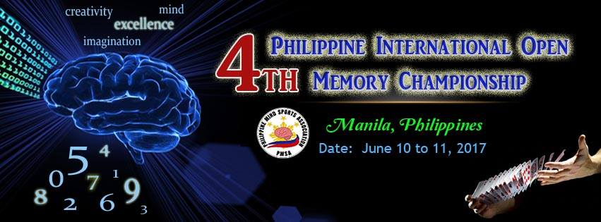 4th Philippine International Open Memory Championship
