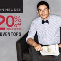 Van Heusen: Get 20% off regular priced woven tops