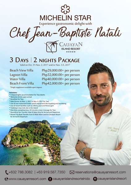 Michelin Star Chef Jean-Baptiste Natali at Cauayan Island Resort El Nido, Palawan