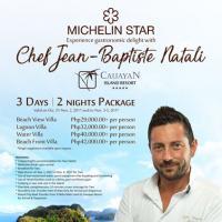 Michelin Star Chef Jean Baptiste Natali at Cauayan Island Resort
