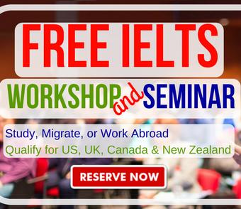 FREE IELTS Workshop + Seminar
