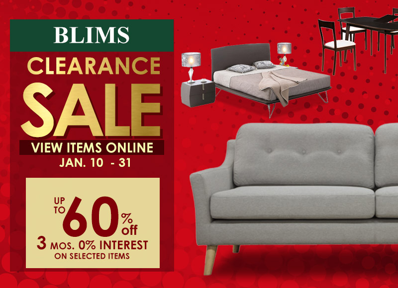 BLIMS CLEARANCE SALE