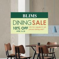 BLIMS DINING SALE 2018
