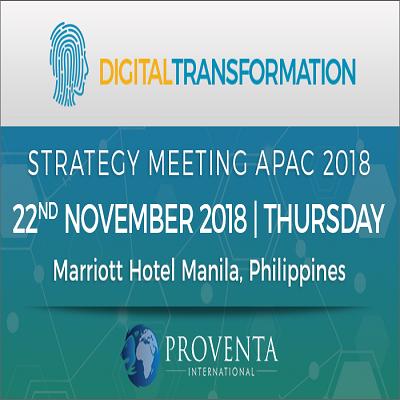 Digital Transformation Strategy Meeting Manila 2018