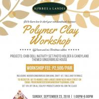 Polymer Clay Workshop at Hobbes and Landes Bonifacio High Street