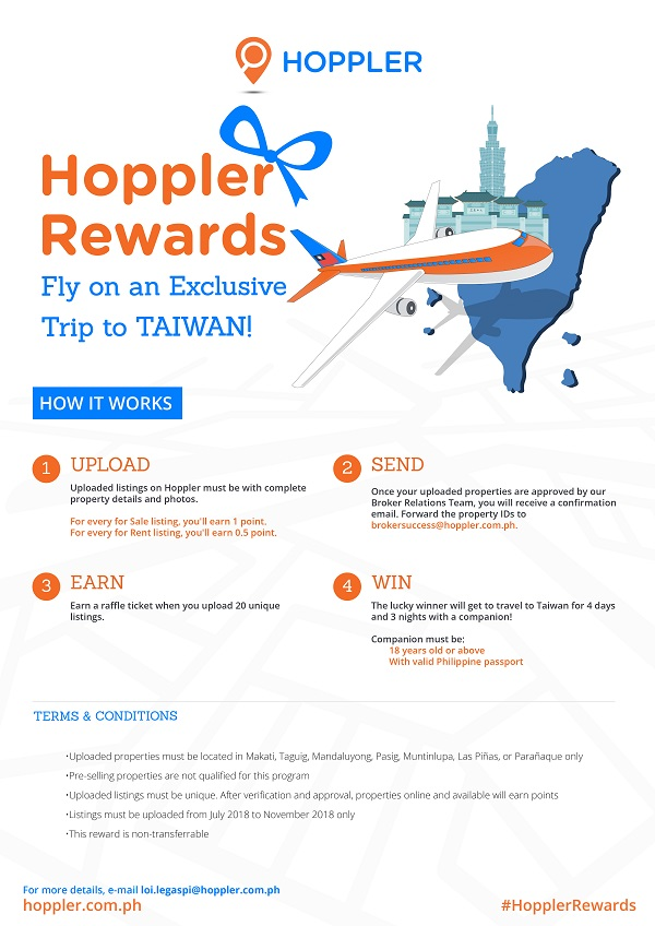 Hoppler Rewards: A Chance to Win A Free Trip to Taiwan